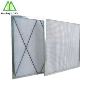 G4 Primary panel washable industrial air filter with synthetic fiber