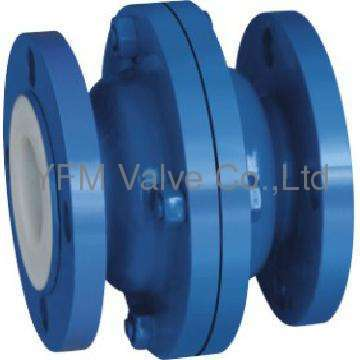 Vertical lift PFA lined check valve for Chemical Like