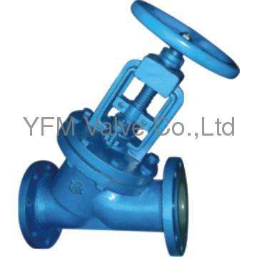 J41 globe valve through way type lined PFA Like