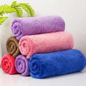超细纤维压花签证有机毛圈织物布纱碎布城镇皇家毛巾