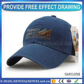 2017热销售标志打印廉价定制棒球帽OEM和ODM