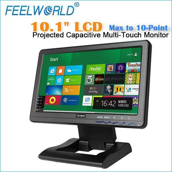 101高品质的新型液晶面板宽视角HDMI VGA视频音频TFT液晶触摸显示器(FW101CT)