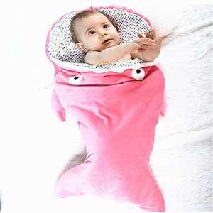 私人标签独特的形状设计舒适的鲨鱼宝宝睡袋