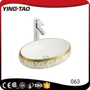 潮州工厂现代设计金色面盆孟加拉国价格