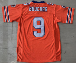 The Waterboy Football Jersey Stitched #9 Bobby Boucher 50th Anniversary Movie Jerseys Orange S-5XL Free Shipping