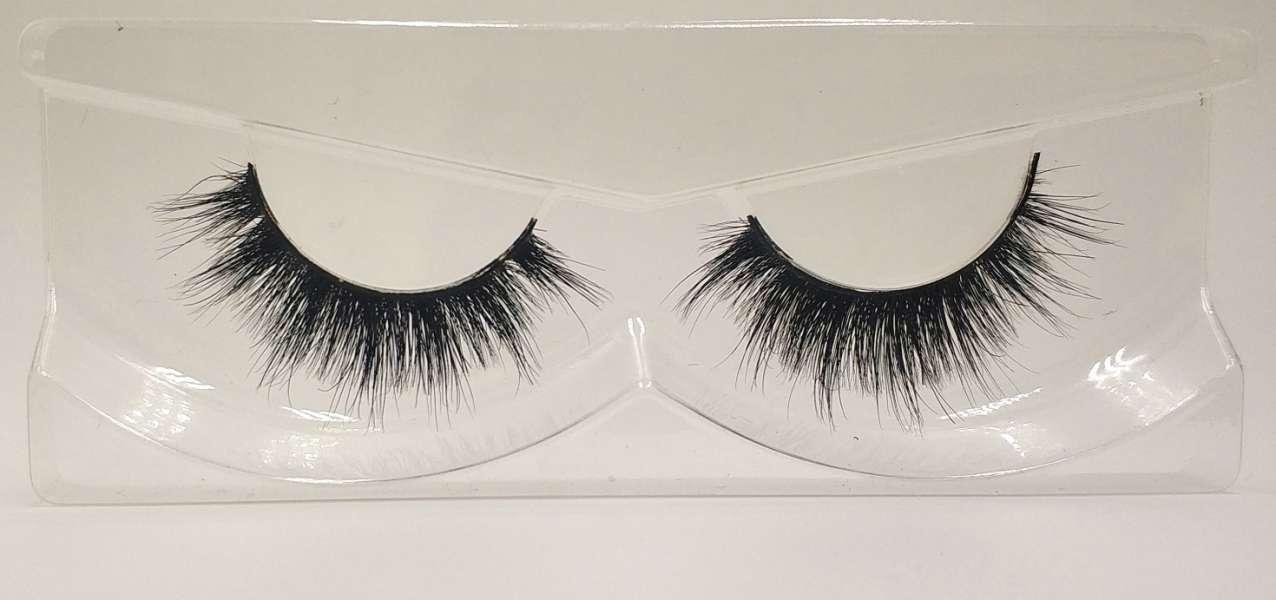 Reusable 3D Mink False Eyelashes 100% Mink Fur Handmade Fake Lashes 1 Pair PackageMTL128
