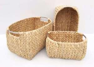 Woven waterhyacinth basket