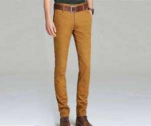 男子斜纹棉布裤
