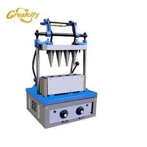 鸡蛋糖锥机、工业用蛋卷、圆棒机