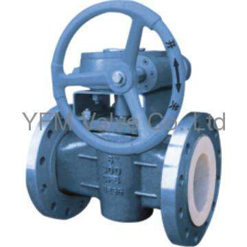 PTFE Lined Cock Valve plug valve flanged type Like