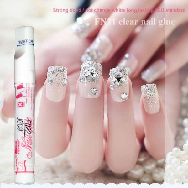 1.5g Clear Nail Glue Nail Art For Stick Fake Nail Environmental ...