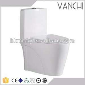 Wc Toilet Ceramic Squatting Pan With P Trap