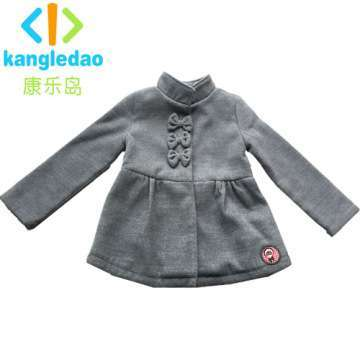 Kid's Wear Children Girl's Woolen Coat Gray Like