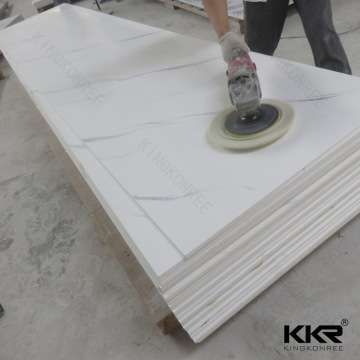 12mm Thickness Black Color Corian Solid Surface Sheet Like