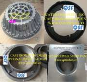 15 1/4 Inch Large Sump Cast Iron Roof Drain with 4 Inch No Hub Outlet