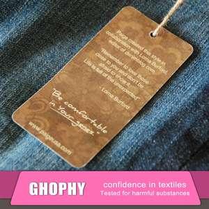 批发时尚设计定制标志印刷牛皮吊牌/摇摆标签