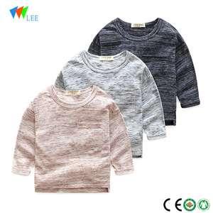 中国制造批发时尚设计儿童长袖漂亮棉童T恤