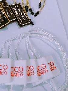 标志服装吊牌串锁,手表塑料价格标签,太阳镜塑料密封线
