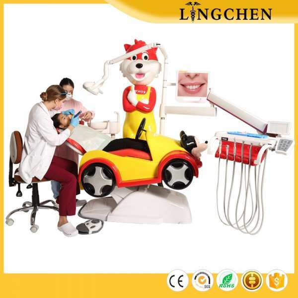 Lingchen Dental Lovely Cartoon Pediatric Dental Unit Children Dental Chair