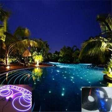 Side Glow Fiber Optic Lighting Cable For Swimming Pool Pond Lighting ...