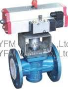Pneumatic PFA lined plug valve control valves Like