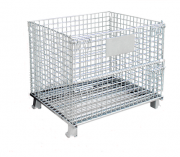 collapsible  wire mesh pallet box steel basket stacking container  for industry
