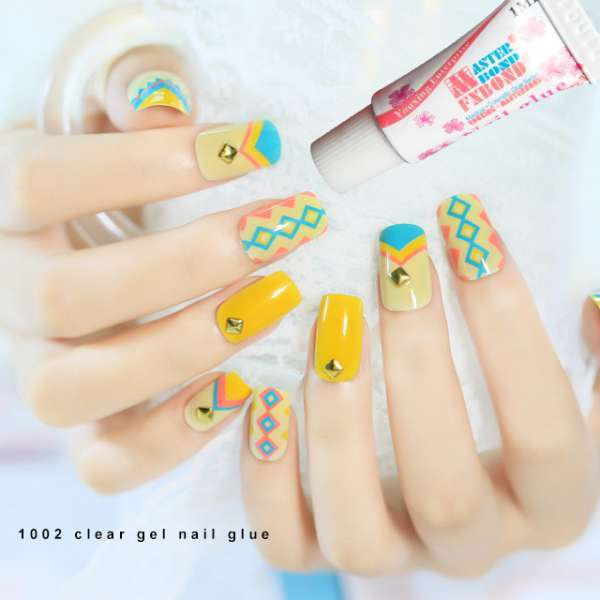 1g Clear Gel Nail Glue Cyanoacrylate Nail Art For Stick Diamond/rhin ...