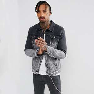 2018 Fashion clothing wholesale men plain jacket mens denim jacket distressed