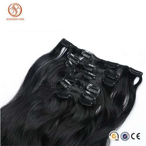 Top Quality 120g / 160g / 220g / 260g cheap 100% humanhair double drawn clip in hair extension