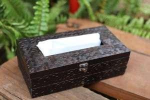 Brown Acrylic rectangular Tissue Paper Box