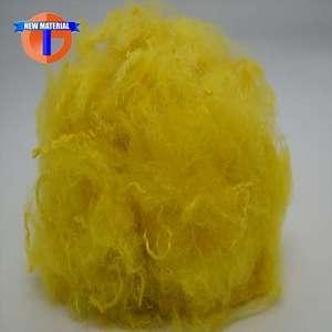 有色涤纶短纤维用于非织造布。
