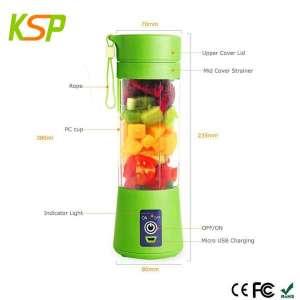 小型电动水果蔬菜380ml个人搅拌机和USB充电