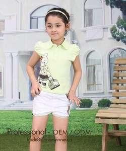 女婴T恤和裤子套装女婴服装短套装
