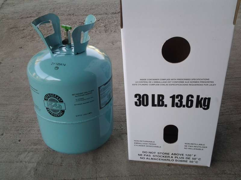 R134a refrigerant gas net weight 13.6kg used for automobile