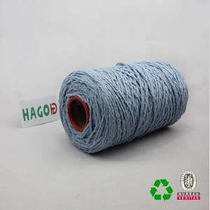 再生彩色清洁拖把编织麻花棉拖把纱