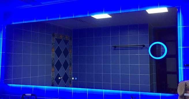 Blue Light Bathroom Mirror With